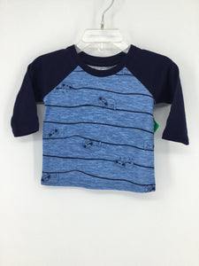okie dokie Child Size 3 Months Stripe T-shirt - boys