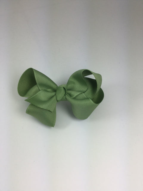 Large Solid Spring Moss Cuteypie Clips