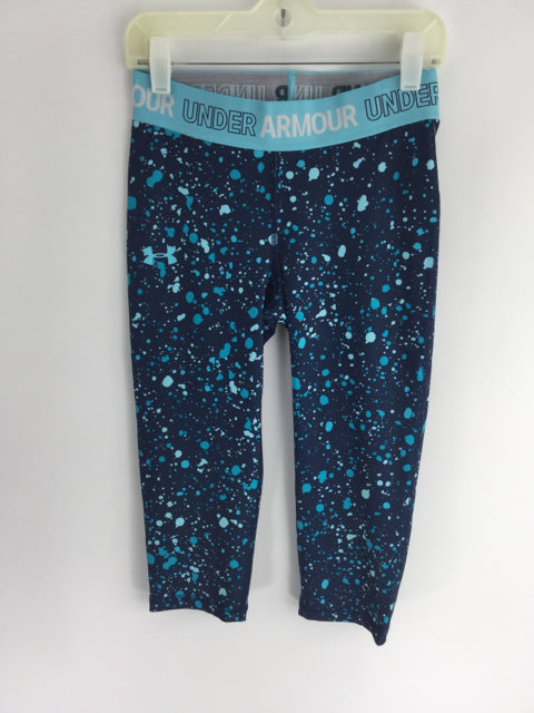 Under Armour Child Size M Blue Print Poly Blend Pants - girls