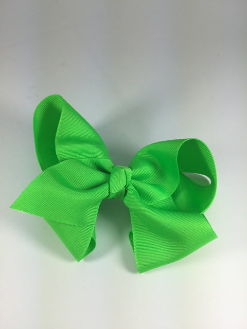 X-Large Solid Neon Green Cuteypie Clips