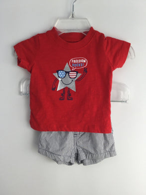 Carter's Child Size Newborn Red Cotton Stars & Stripes