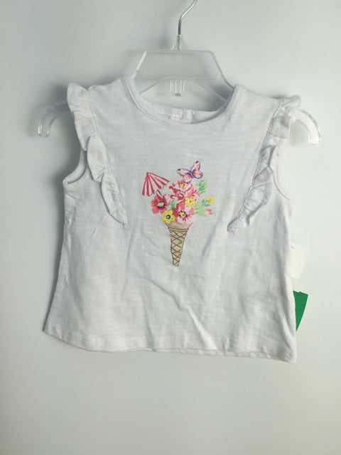 Little Me Child Size 12 Months White Cotton Shirt - girls