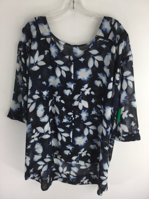 Motherhood Maternity Size L Poly Blend Shirt