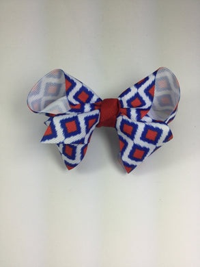 Large Red, White & Blue Print Cuteypie Clips
