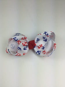 Large Red, White & Blue Anchorl Cuteypie Clips