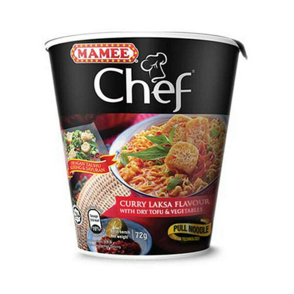 Mamee Chef  Cup Curry Laksa Flavour 72g