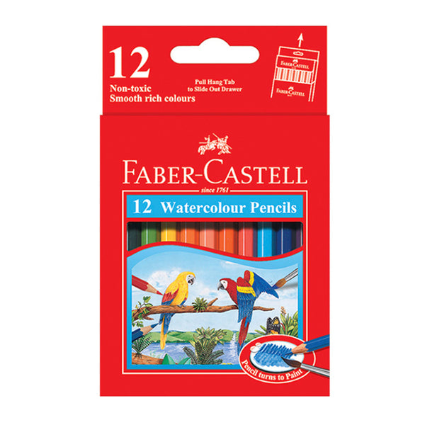 Faber Castell Watercolour Pencils ( Pencil turns to Paint ) - 12 Colours