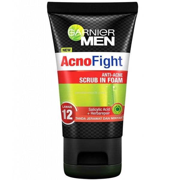 Garnier Men Acno Fight Anti-Acne Scrub In Foam 100ml
