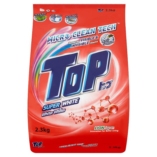 Top Super White Micro-Clean Tech Powder Detergent 2.3kg