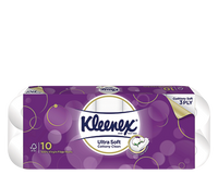Kleenex 3Ply Ultra Soft Cottony Clean Toilet Tissue 10Rolls