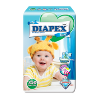 Diapex Easy Wonder Tape Diapers XXL size (14kg above) 40 pieces