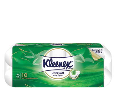Kleenex 3Ply Ultra Soft Soothing Clean Toilet Tissue 10Rolls