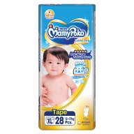 MamyPoko Extra Dry Skin Tape Diapers XL size (12-17kg) 28 pieces