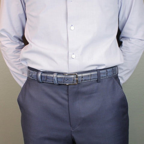 Men's belt 30mm wide (narrow) - suit