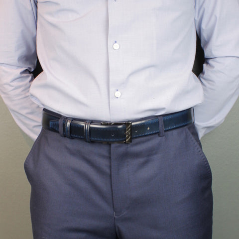 Men's belt 35mm wide - suit