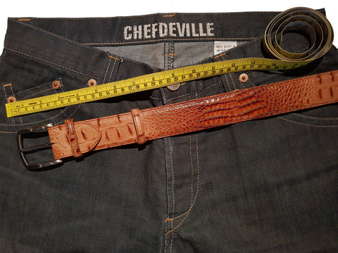 Belt and trouser sizes