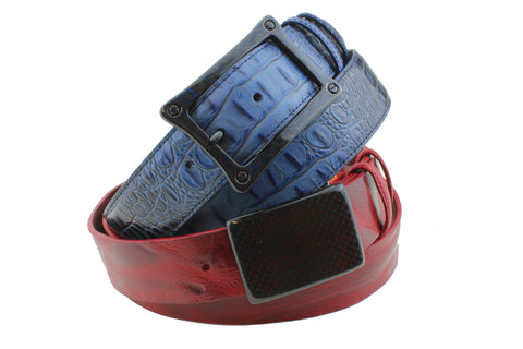 Elliot Rhodes Carbon Fibre Buckles on Vintage or Croc Effect belts