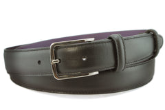 Narrow Black Saffiano Belt