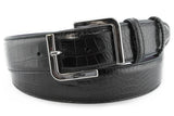 Mens Black Mock Croc Jeans Belt