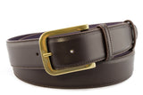 Mens Classic Dark Brown Napa Jeans Belt
