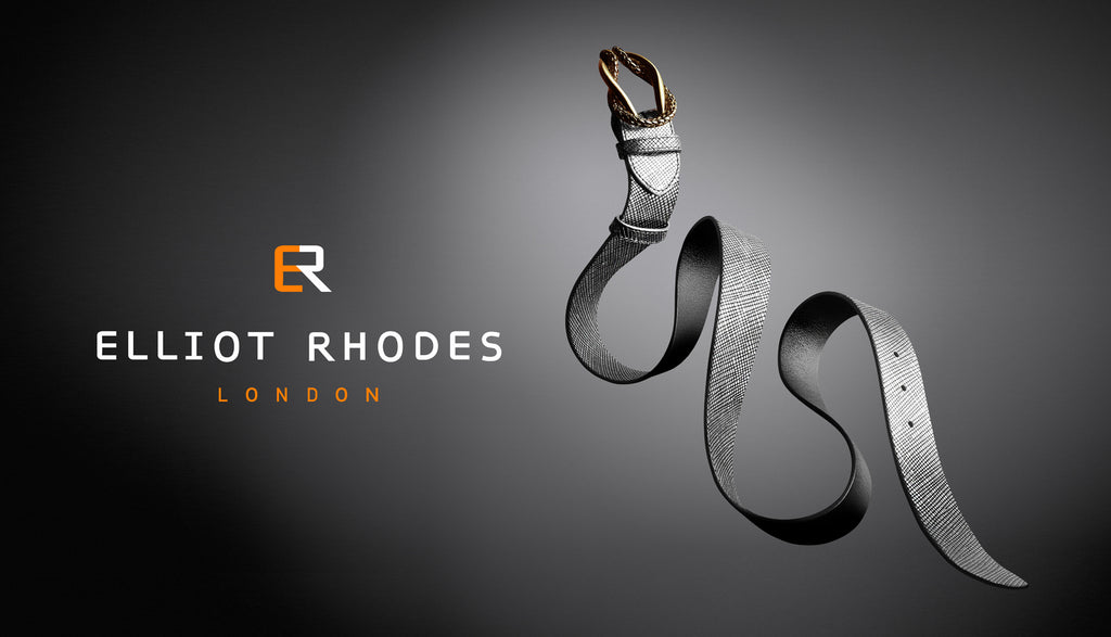 Elliot Rhodes Metallic Criss Cross Snaking Belt