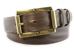 Grant Dark brown screw buckle belt
