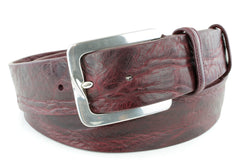 Burgundy Casual Mens Belt