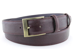Textured Burgundy belt