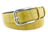 Yellow Mock Croc Jeans Belt