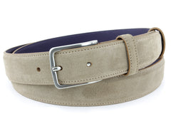 Narrow Beige Suede Belt