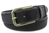 Dark Brown Pony Hair Jeans Belt