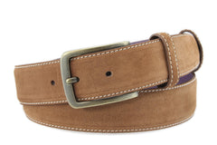 Tan suede mens belt
