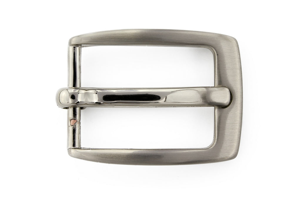 Satin silver classic prong buckle 20mm