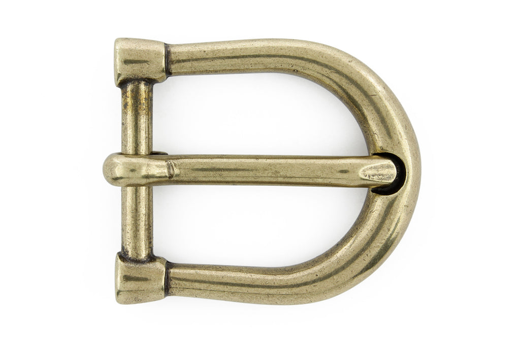 Dainty aged gold equestrian prong buckle 20mm