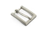 Satin silver rectangular prong buckle 20mm