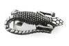 Aged Silver Baby Lizard Buckle 20mm