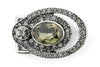 Gunmetal Double Oval Crystal Buckle 20mm