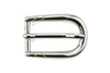 Sleek Shiny Silver Rounded Prong Buckle 20mm