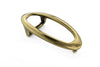 Aged gold hollow oval buckle 20mm