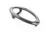 Shiny gunmetal hollow oval buckle 20mm