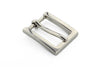 Shiny silver rectangular prong buckle 20mm
