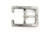 Beaten silver centre prong buckle 25mm