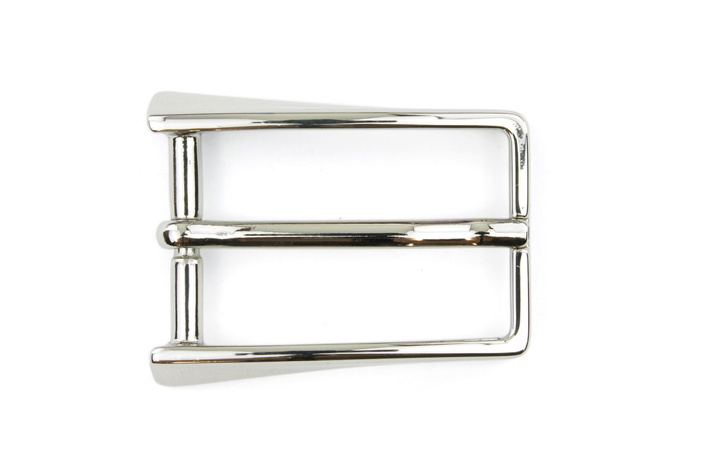 Shiny Silver Rectangular Buckle 25mm