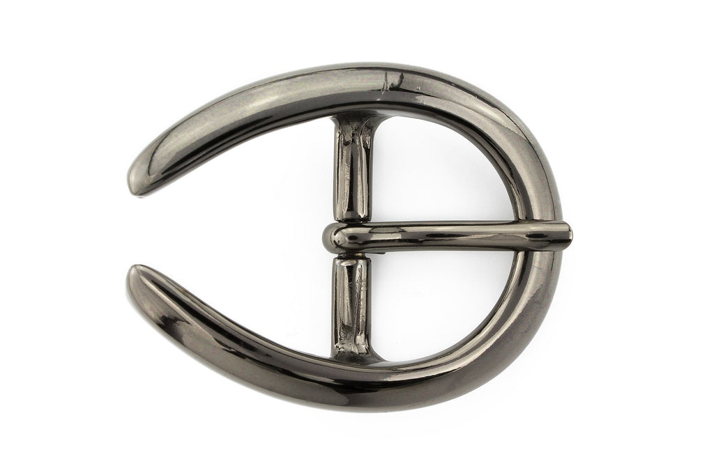 Gunmetal horseshoe prong buckle 25mm