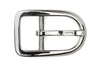 Rounded Silver Centre Prong Buckle 25mm