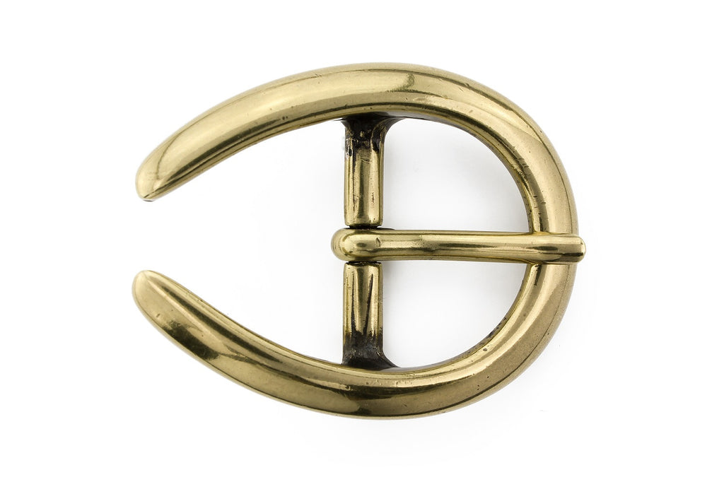 Aged gold horseshoe prong buckle 25mm