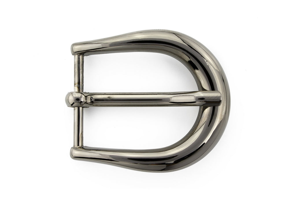 Gunmetal elliptical prong buckle 25mm