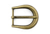 Aged gold elliptical prong buckle 25mm