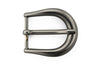 Matt black elliptical prong buckle 25mm
