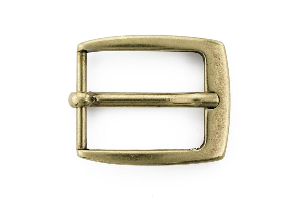 Aged gold classic prong buckle 25mm